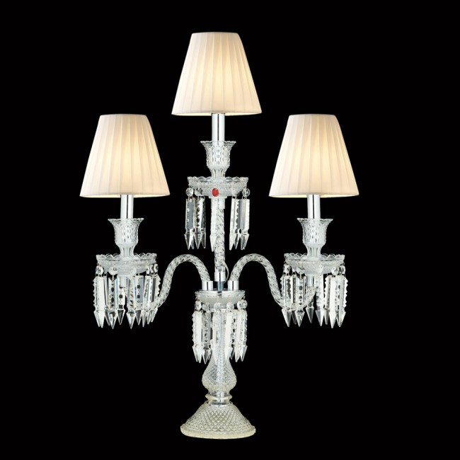 Baccarat Collection 3 Lambalı Kristal Şamdan Aydınlatma - Thumbnail