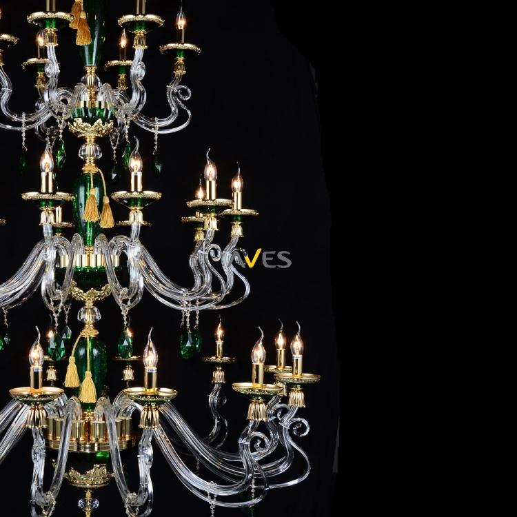 Monalisa Collection 28 Lambalı Avize Yeşil