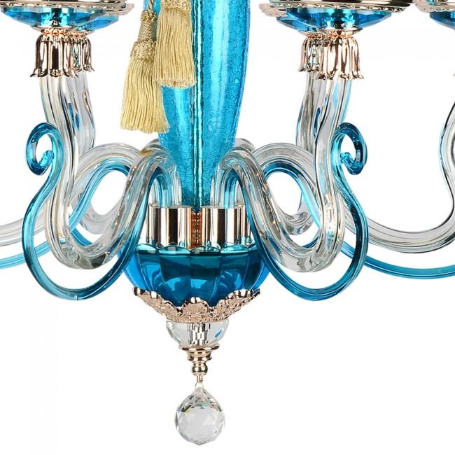Monalisa Collection 6 Lambalı Avize Mavi - Thumbnail