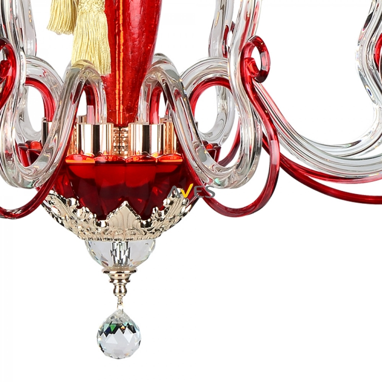 Monalisa Collection 8 Lambalı Avize Kırmızı